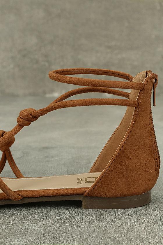 Rosabel Tan Suede Gladiator Sandals 7