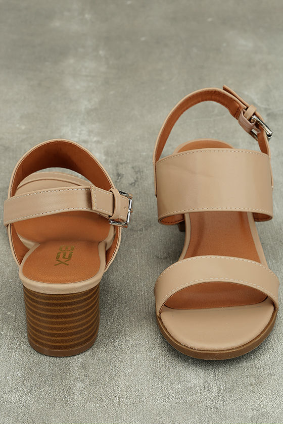 Cannes Natural Heeled Sandals 3
