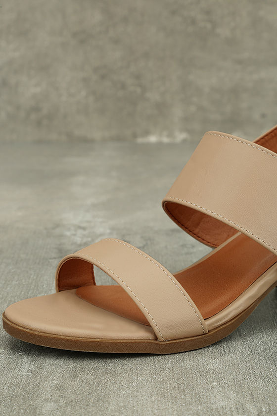 Cannes Natural Heeled Sandals 6