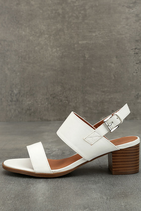 Cannes White Heeled Sandals 1
