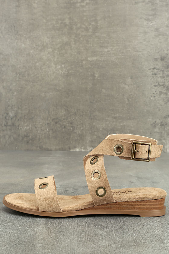 Coconuts Belize Natural Suede Wedge Sandals 1