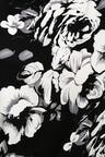 Chic Black And White Jumpsuit Floral Print Jumpsuit Midi