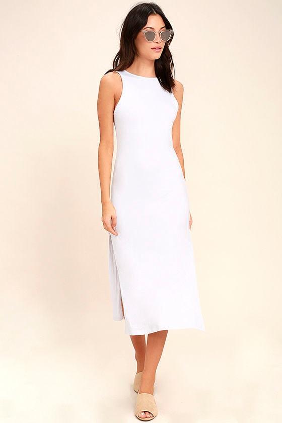 Lucy Love Love & Light White Bodycon Midi Dress 1
