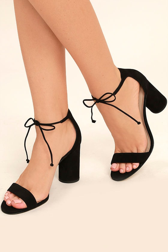 Lace Up Peep Toe Shoes