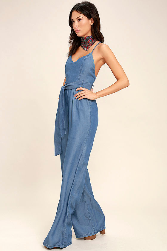Cruise Blue Chambray Jumpsuit 2