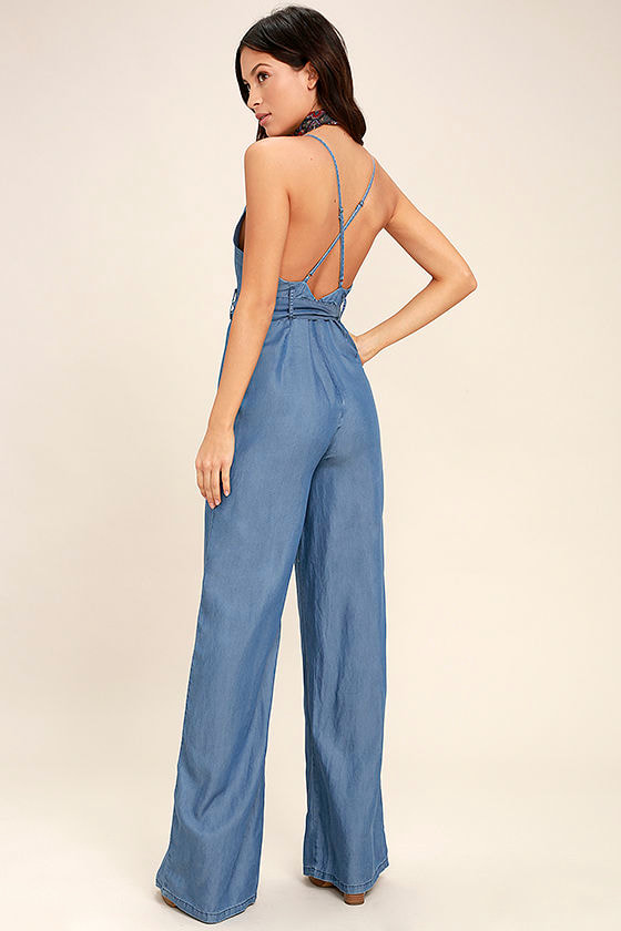 Cruise Blue Chambray Jumpsuit 3