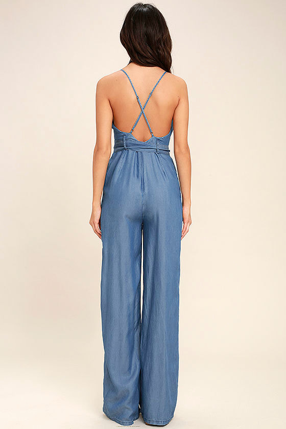 Cruise Blue Chambray Jumpsuit 4