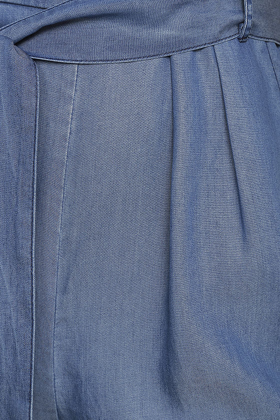 Cruise Blue Chambray Jumpsuit 6