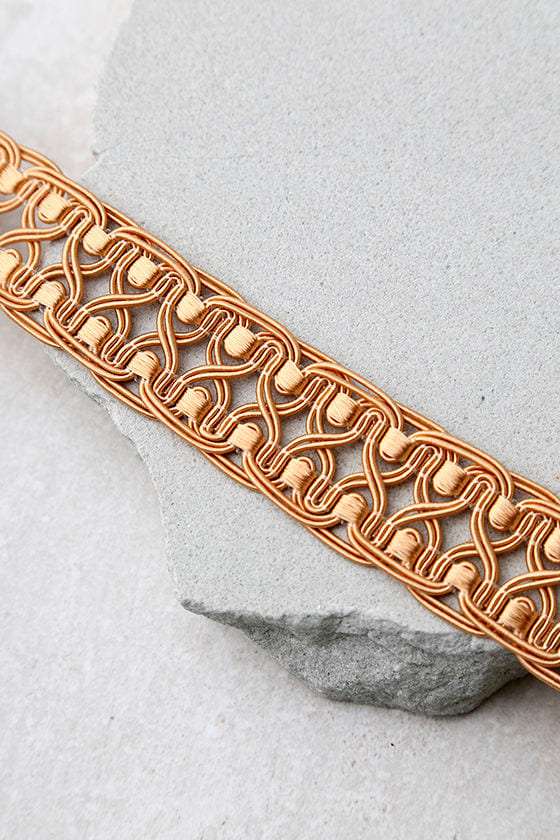 Natalie B Tatjana Terra Cotta Lace Choker Necklace 3
