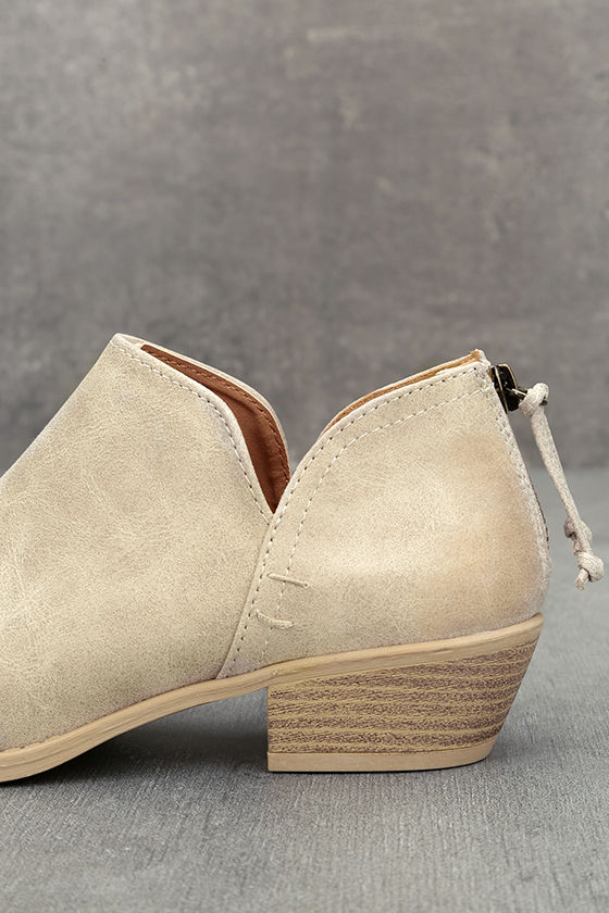 Stands Apart Stone Grey Nubuck Ankle Booties 7