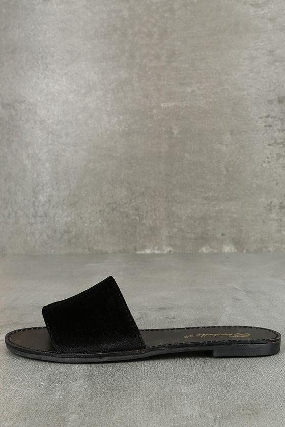 black velvet flip flops