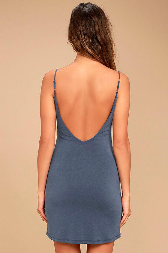 Fine Day Denim Blue Dress 4