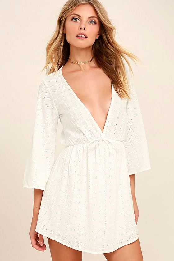 Easy on the Eyelets White Lace Cover-Up 1
