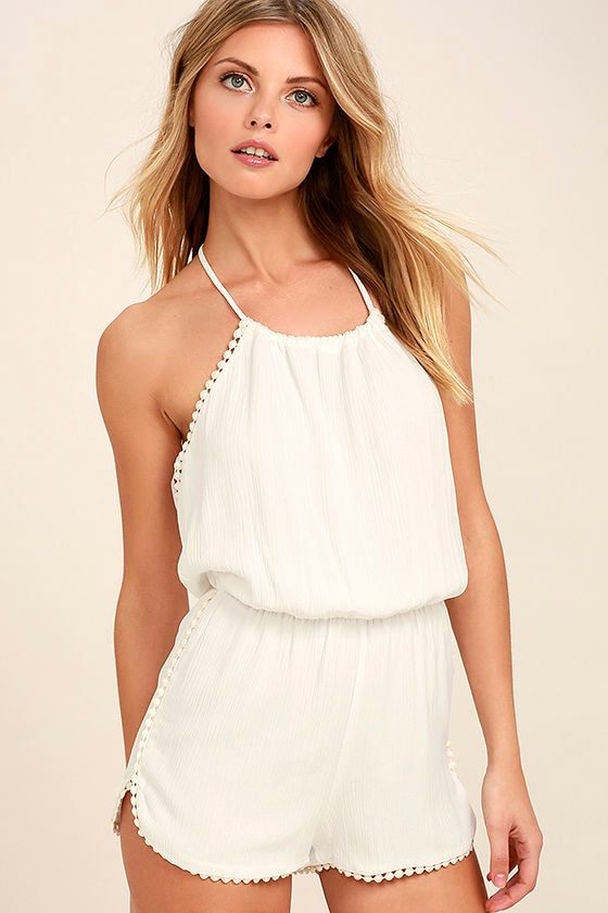 I Won't Give Up Ivory Romper 1