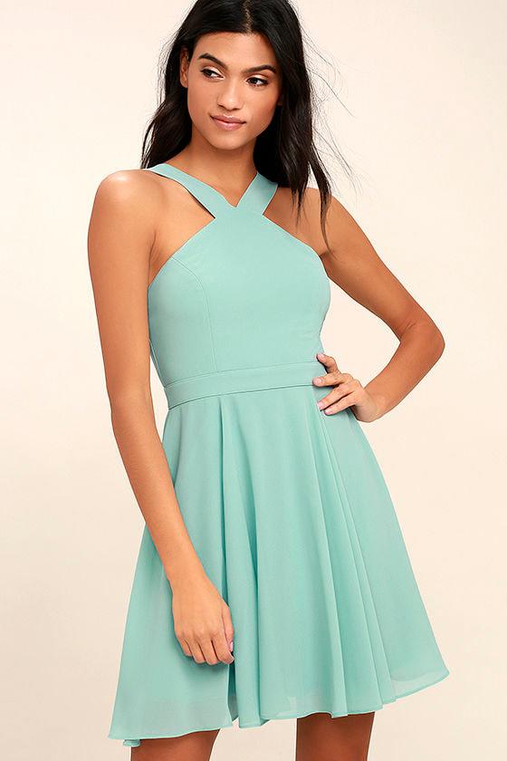 Forevermore Turquoise Skater Dress 1