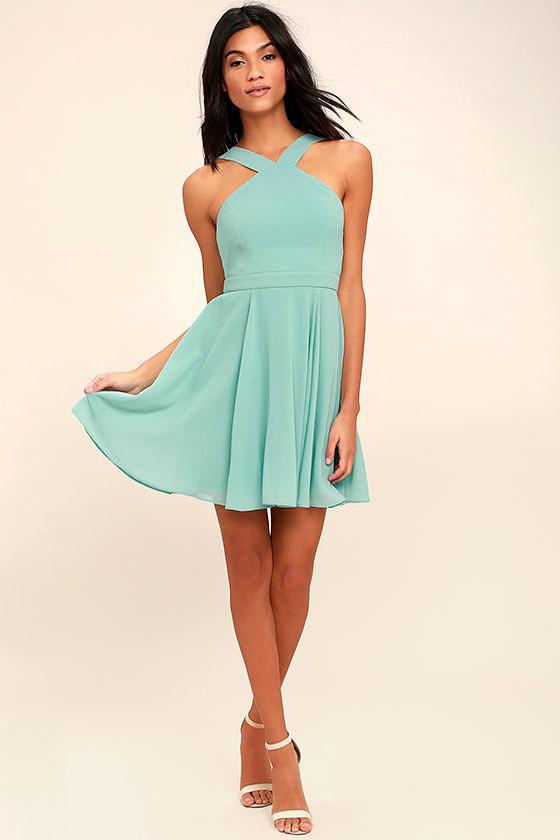 Forevermore Turquoise Skater Dress 2