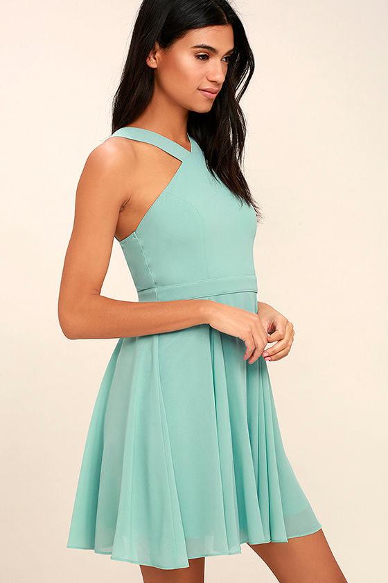 Forevermore Turquoise Skater Dress 3