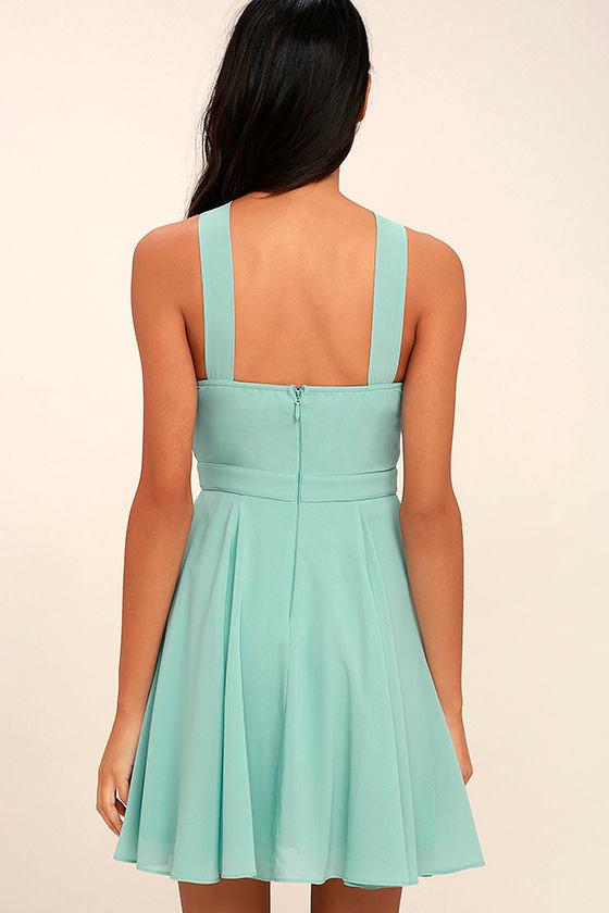 Forevermore Turquoise Skater Dress 4