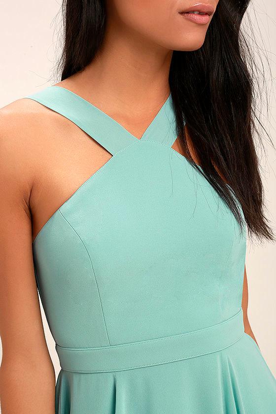 Forevermore Turquoise Skater Dress 5