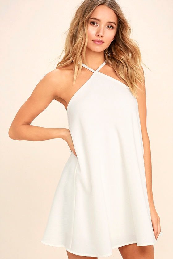 High Gear White Shift Dress 1