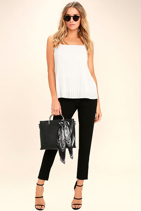None Other White Lace Sleeveless Top 2