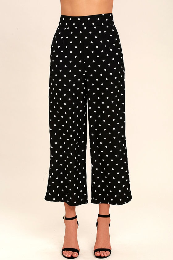 polka dot pants chic black and white culottes polka dot cropped 30737