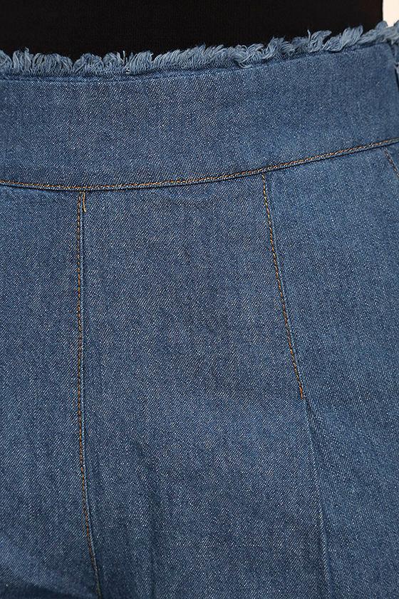 My Moment Blue Chambray Wide-Leg Pants 6