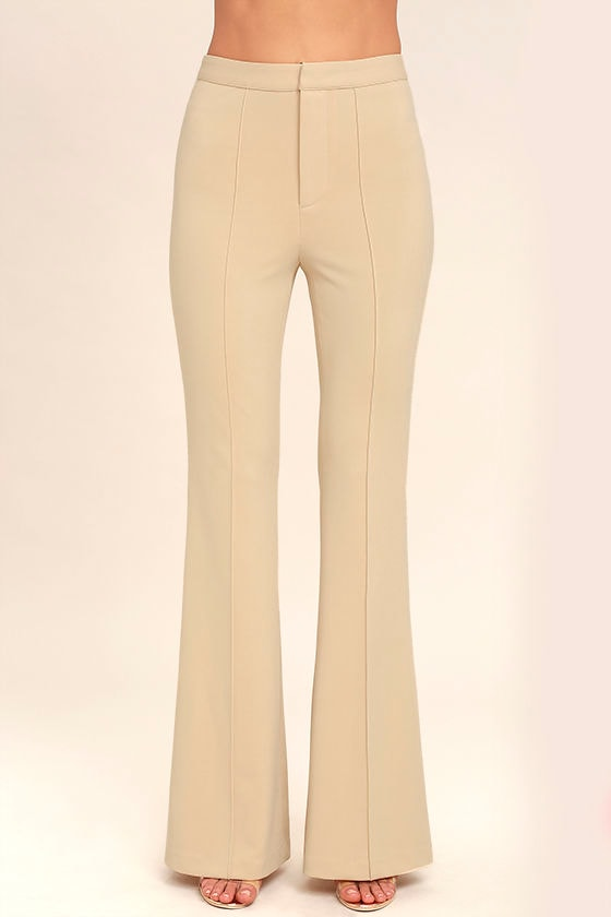 Labor of Love Beige Flare Pants 2