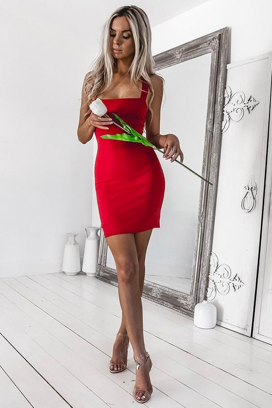 Play Time Red Bodycon Dress 7
