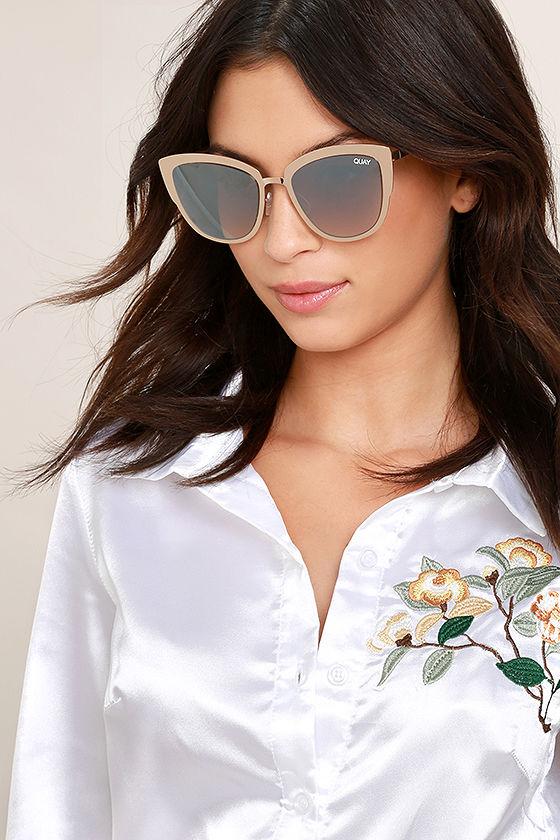 9787e09520 Quay Super Girl Sunglasses - Silver and Gold Sunglasses