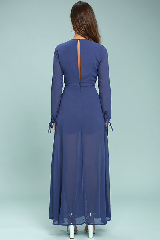 Gone With the Whirlwind Royal Blue Romper 3