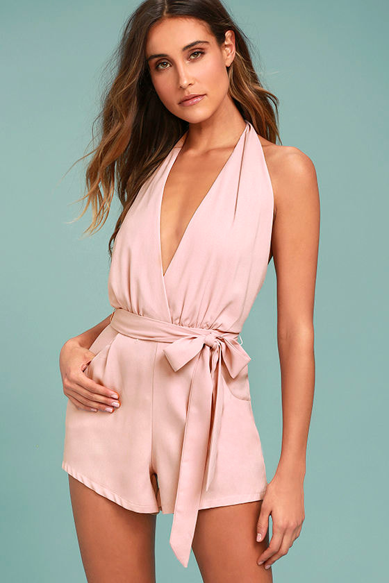 Playsuit My Fancy Blush Pink Romper 1