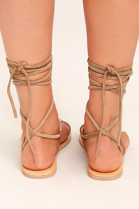 Amuse Society x Matisse Getaway Tan Leather Lace-Up Sandals 4