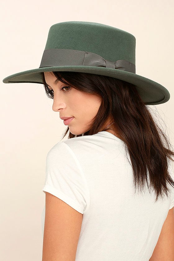 Wyeth Canotier Hat - Teal Green Hat - Boater Hat -  69.00 42719bc056a1