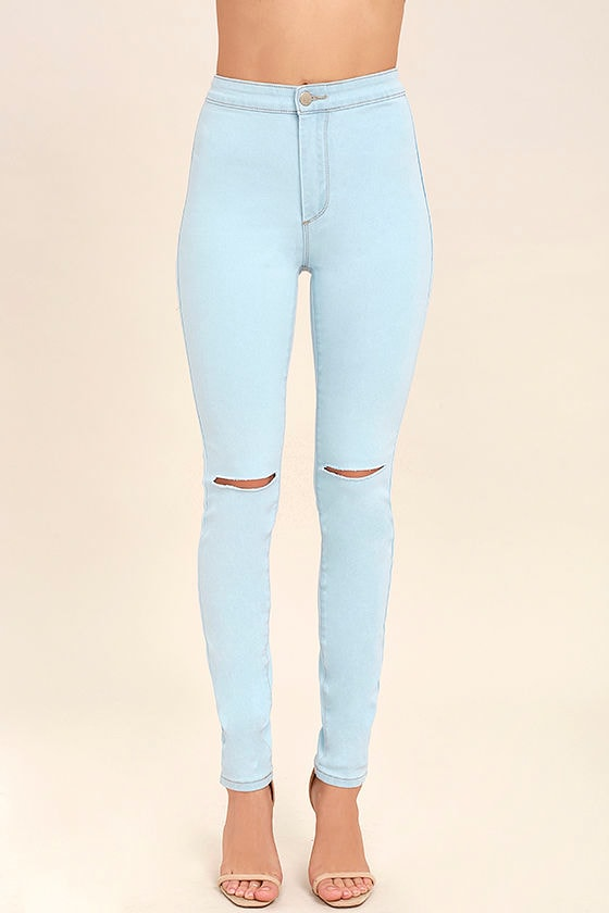 Practice Makes Perfect Light Wash High-Waisted Skinny Jeans 2