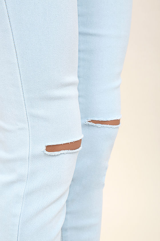 Practice Makes Perfect Light Wash High-Waisted Skinny Jeans 6