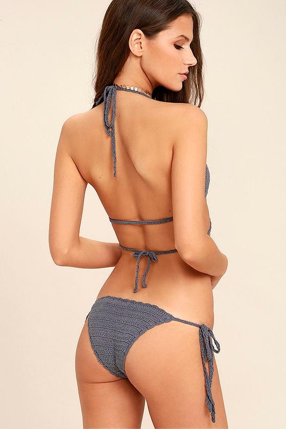 Sea-esta Slate Grey Crochet Bikini 3
