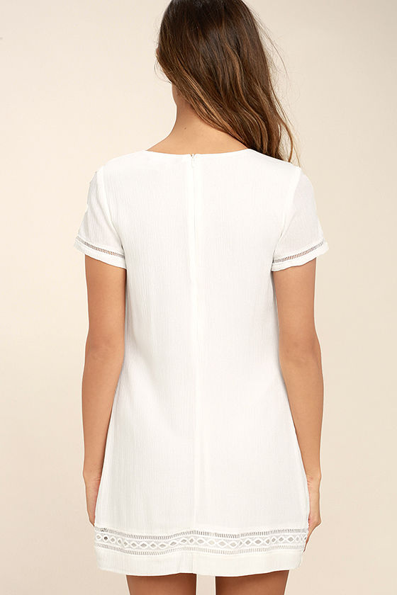 Perfect Time White Shift Dress 4