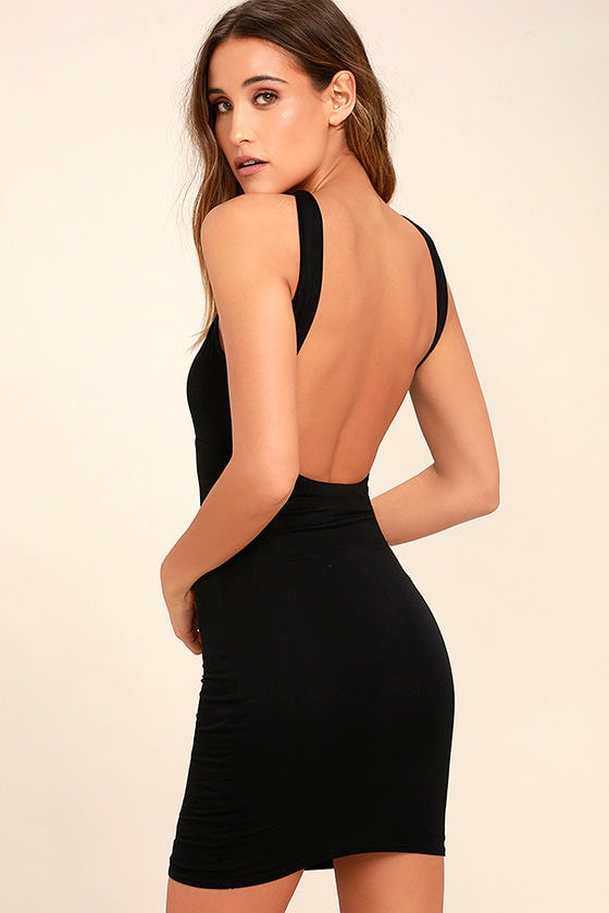 Key Largo Black Bodycon Dress 1
