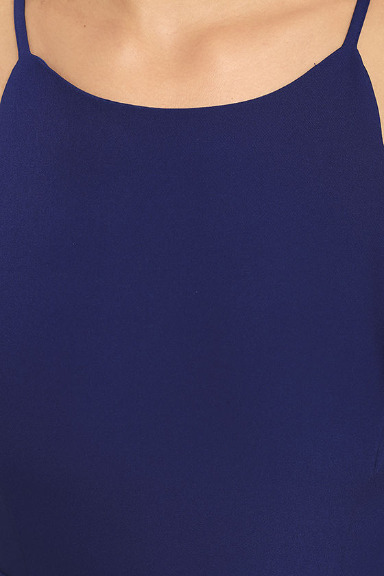Play On Curves Royal Blue Backless Dress 6