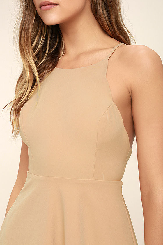 Play On Curves Blush Backless Dress 5