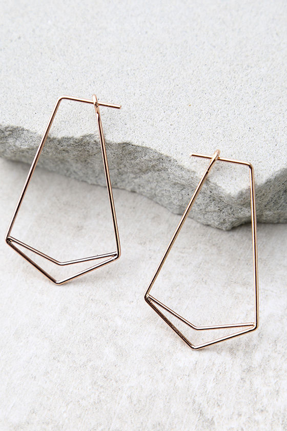 Geometry 101 Rose Gold Earrings 2