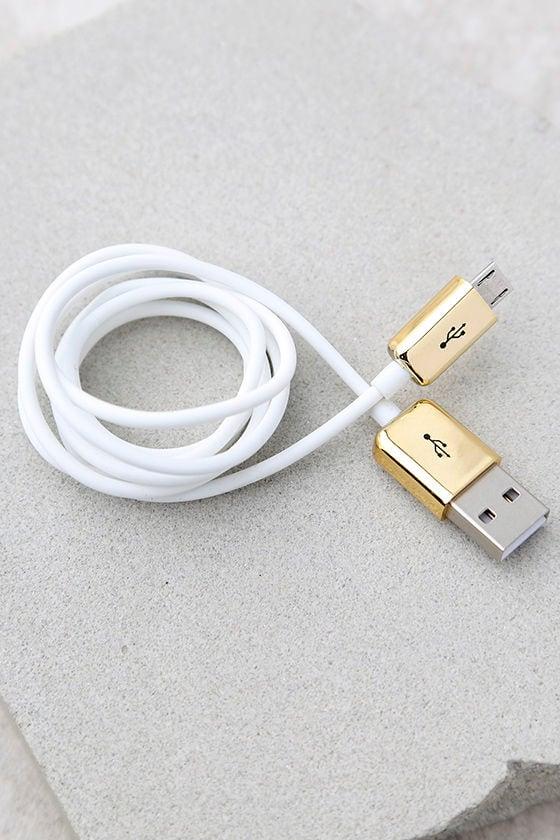 Skinnydip London White USB Cable 1