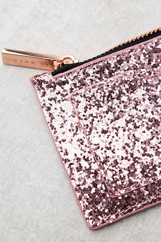 Skinnydip London Dita Rose Gold Glitter Coin Purse 2