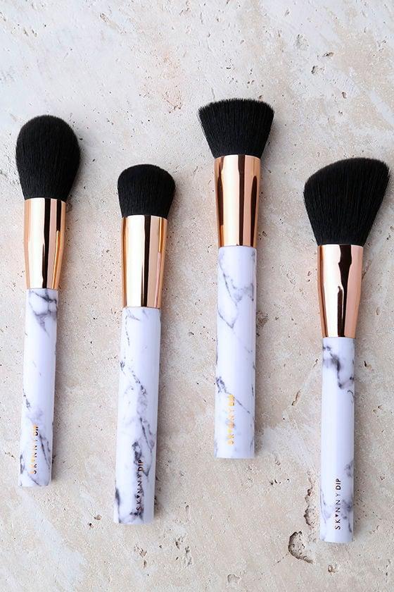 Skinnydip London Shut the Contour Marble Makeup Brush Set 1