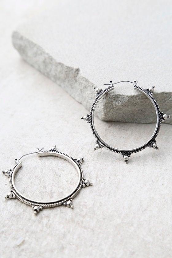 Panorama Silver Hoop Earrings 2