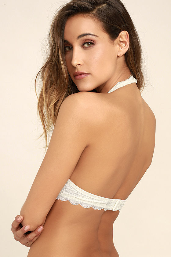 Free People Galloon Halter Ivory Lace Bralette 3