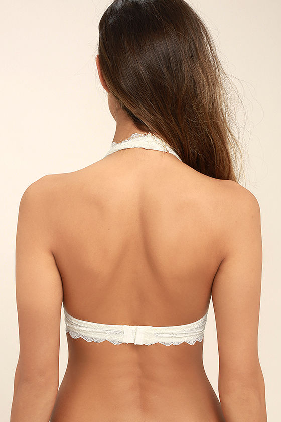 Free People Galloon Halter Ivory Lace Bralette 4