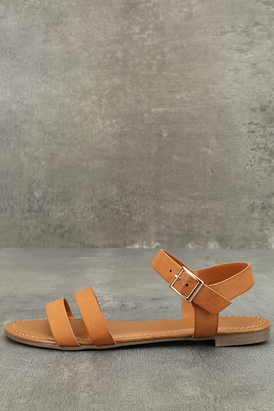 Euphrates Tan Flat Sandals 1