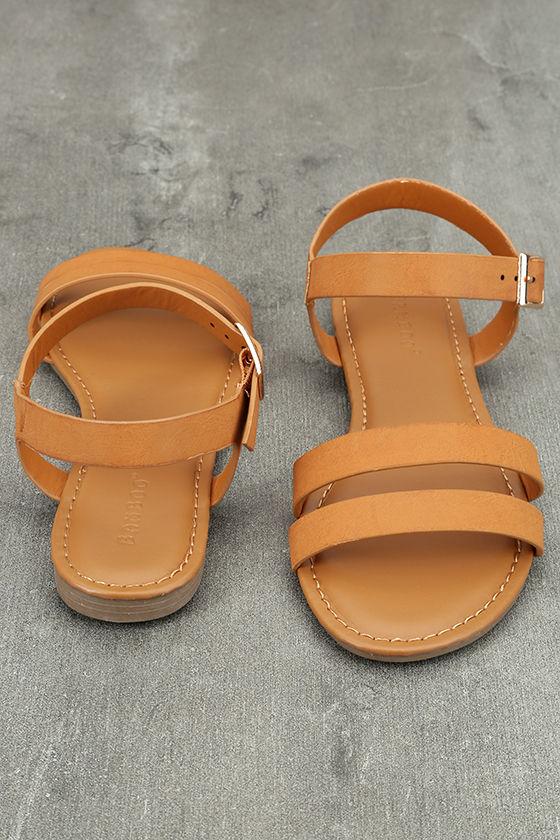 Euphrates Tan Flat Sandals 3